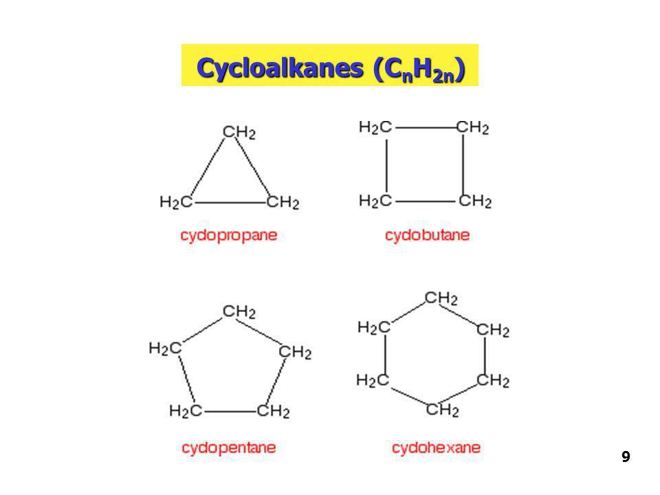 Cycloalkanes (CnH2n) 9
