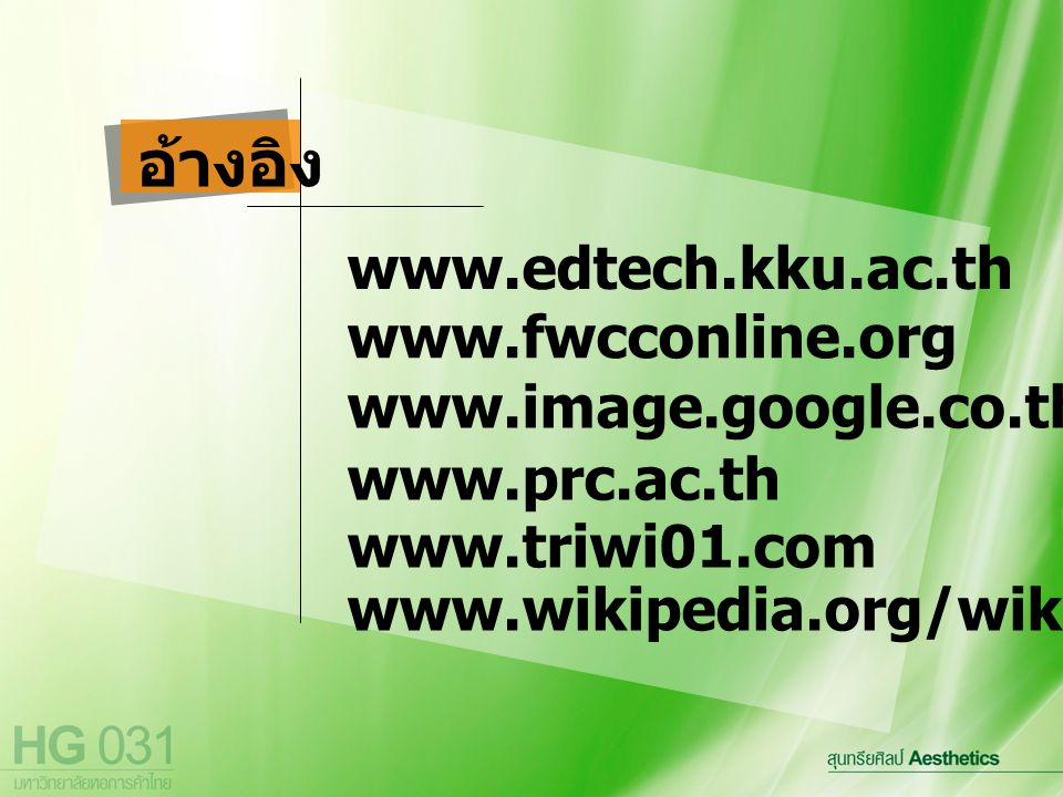 อ้างอิง www.edtech.kku.ac.th www.fwcconline.org www.image.google.co.th