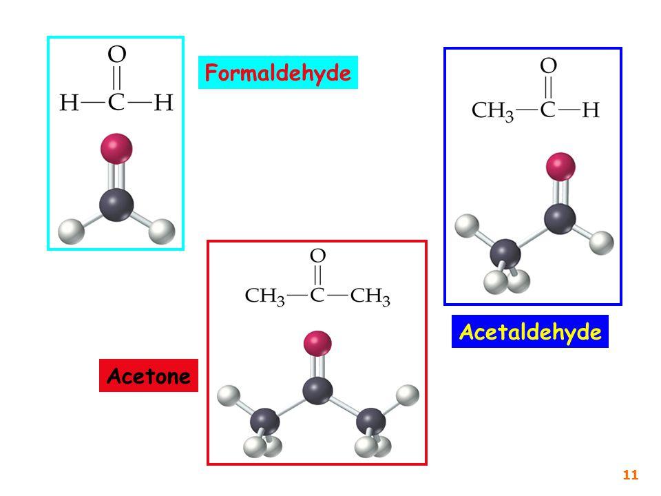 Formaldehyde Acetaldehyde Acetone 11