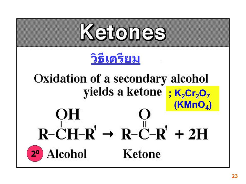 วิธีเตรียม ; K2Cr2O7 (KMnO4) 20 23