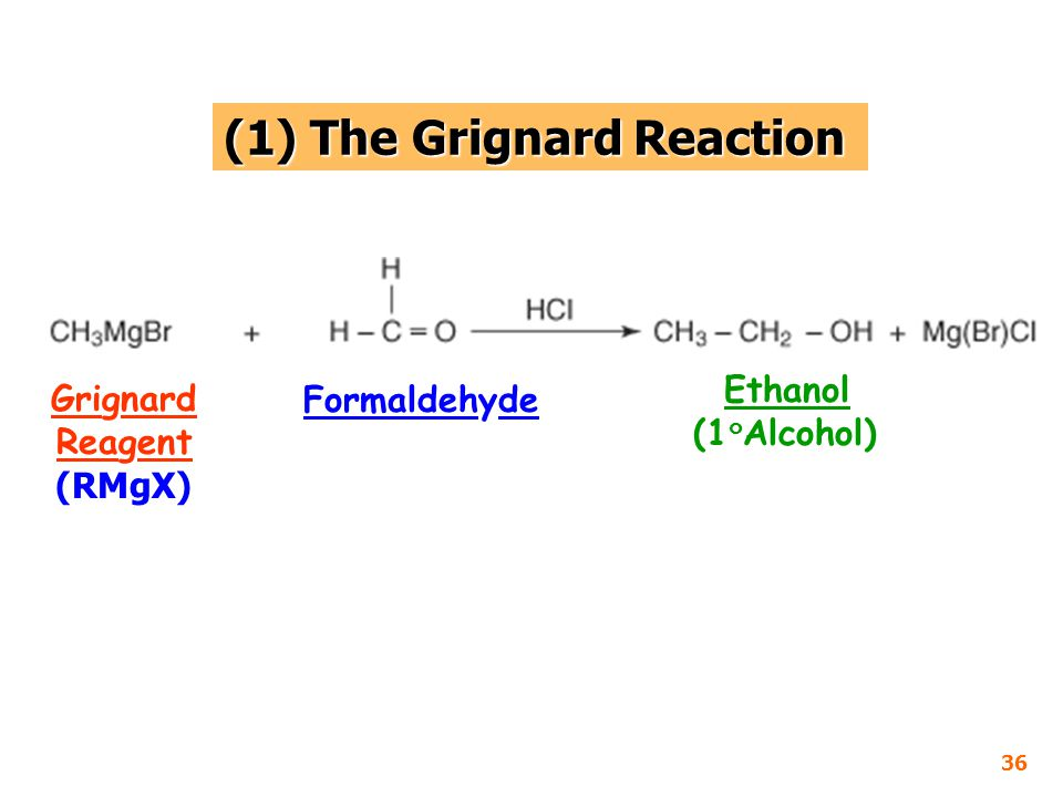 (1) The Grignard Reaction