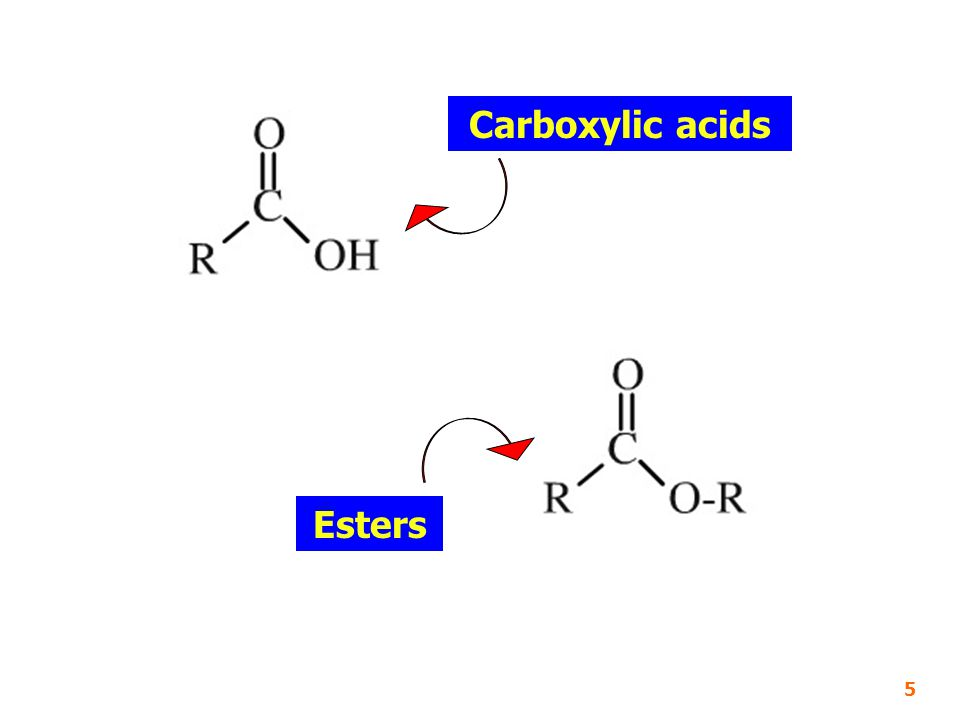 Carboxylic acids Esters