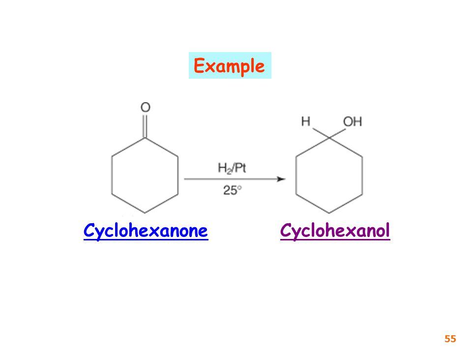Example Cyclohexanone Cyclohexanol 55