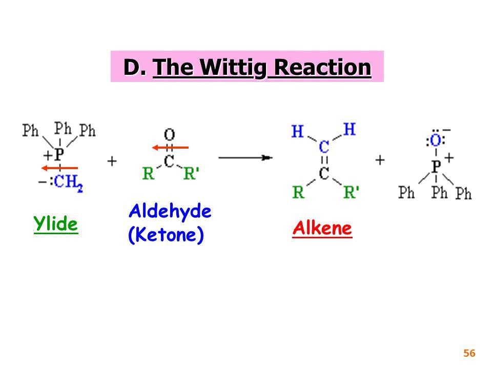D. The Wittig Reaction Aldehyde (Ketone) Ylide Alkene 56