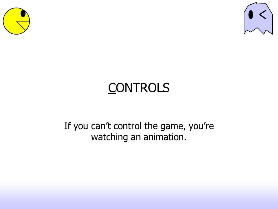 If you can't control the game, you're watching an animation.