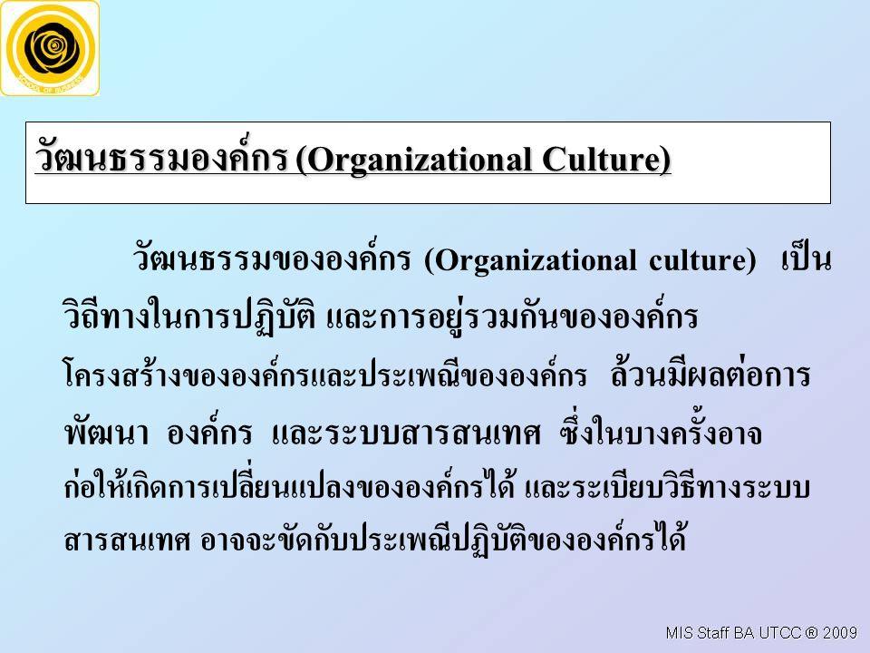 วัฒนธรรมองค์กร (Organizational Culture)