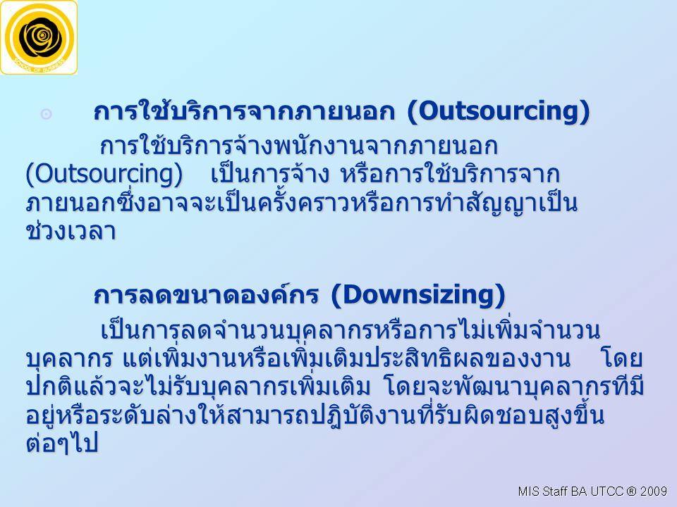 การลดขนาดองค์กร (Downsizing)