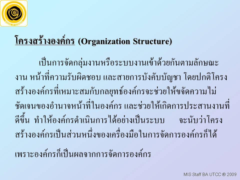 โครงสรางองคกร (Organization Structure)