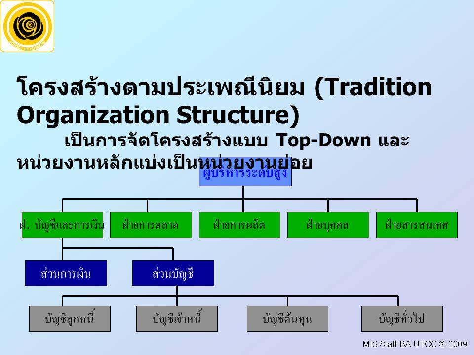 โครงสร้างตามประเพณีนิยม (Tradition Organization Structure)