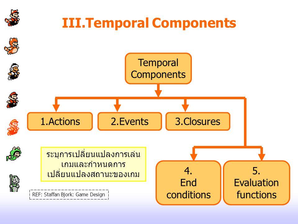 III.Temporal Components