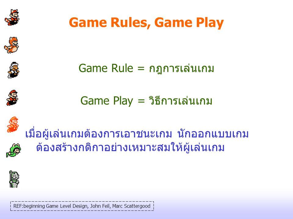 Game Rules, Game Play Game Rule = กฎการเล่นเกม