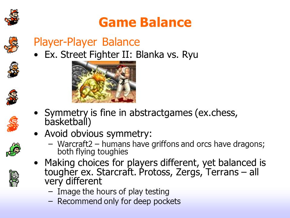 Game Balance Player-Player Balance