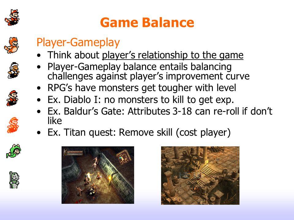 Game Balance Player-Gameplay