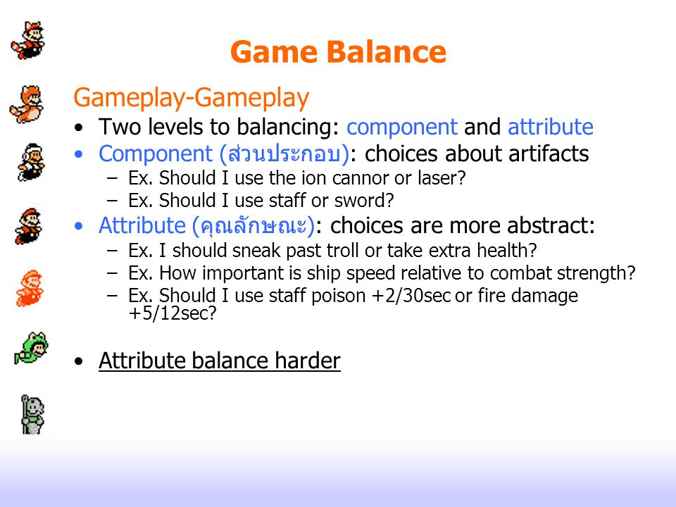 Game Balance Gameplay-Gameplay