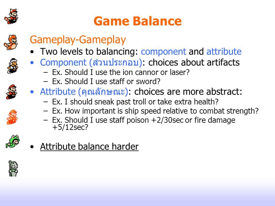 Game Balance Gameplay-Gameplay
