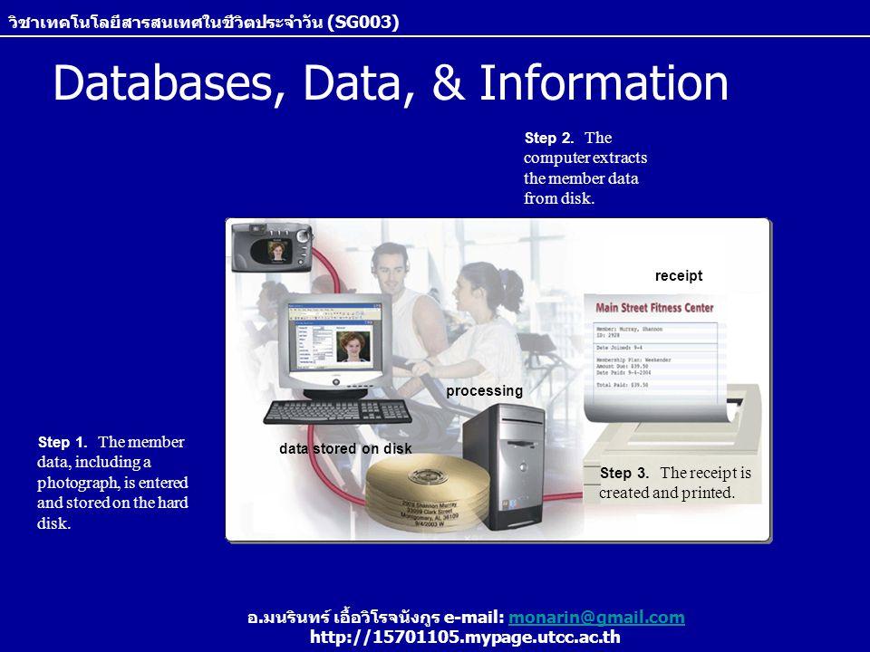 Databases, Data, & Information