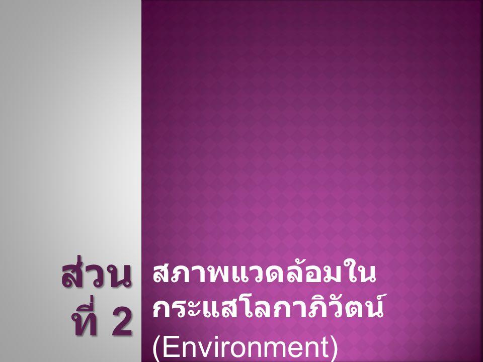 สภาพแวดล้อมในกระแส โลกาภิวัตน์ (Environment)