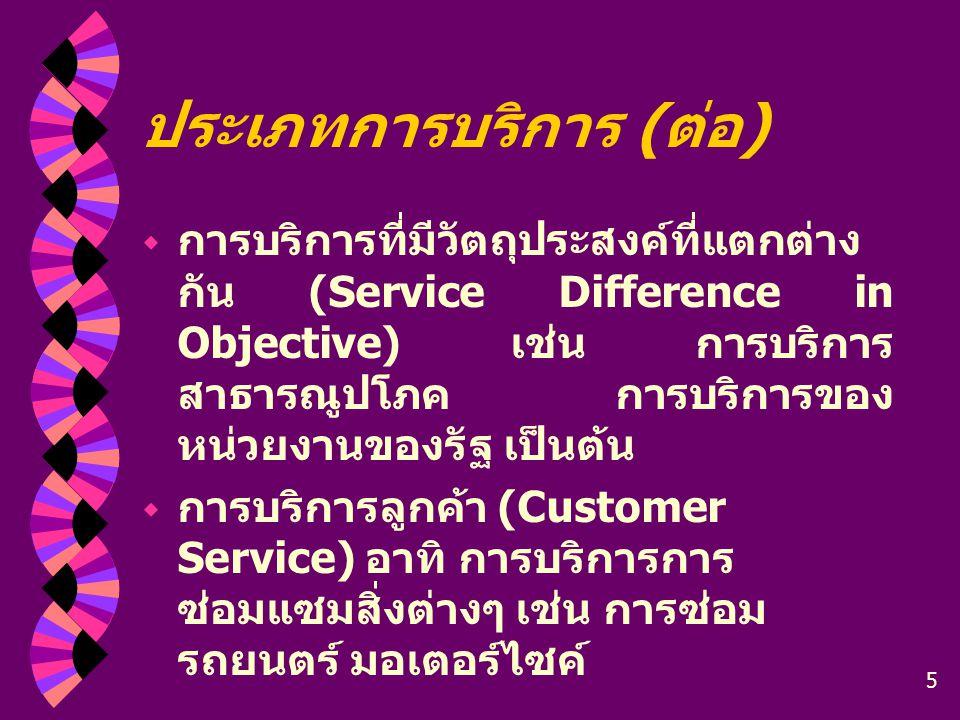 ประเภทการบริการ (ต่อ)