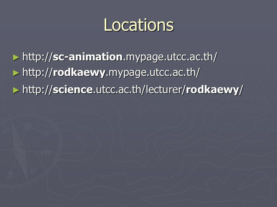 Locations http://sc-animation.mypage.utcc.ac.th/