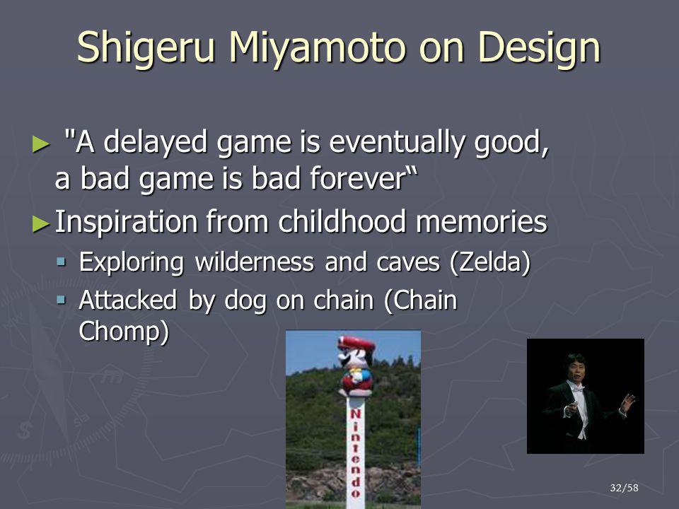 Shigeru Miyamoto on Design