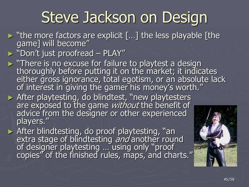 Steve Jackson on Design