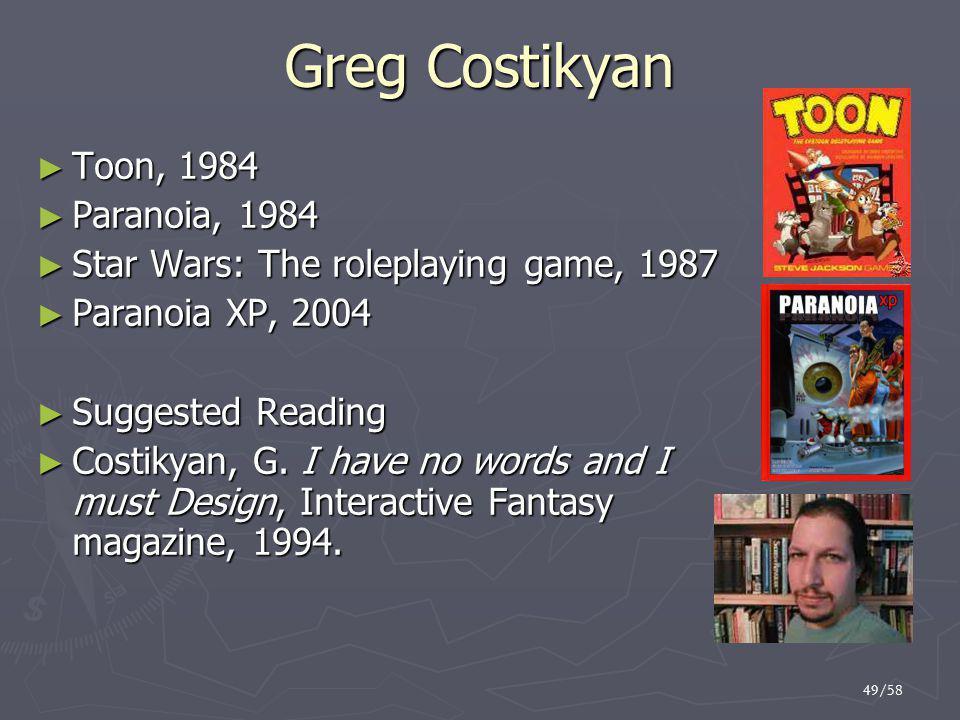 Greg Costikyan Toon, 1984 Paranoia, 1984