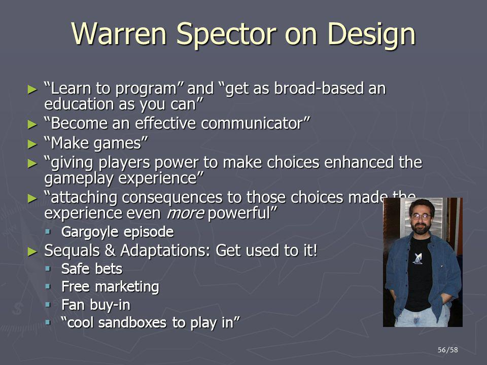 Warren Spector on Design