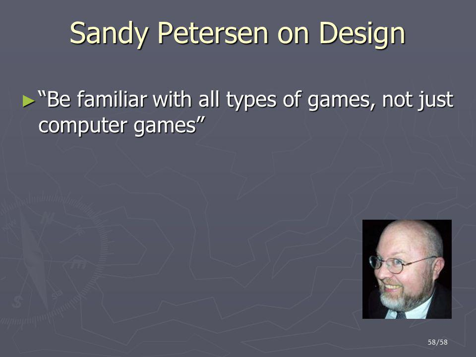 Sandy Petersen on Design