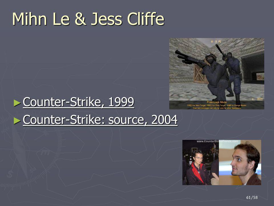 Mihn Le & Jess Cliffe Counter-Strike, 1999