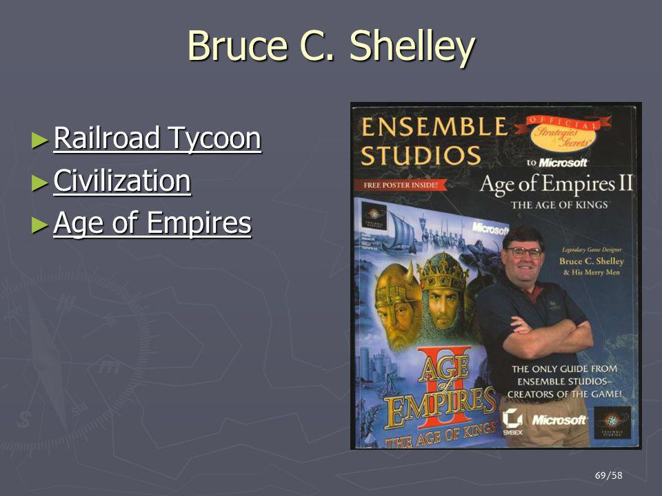 Bruce C. Shelley Railroad Tycoon Civilization Age of Empires 69/58 69
