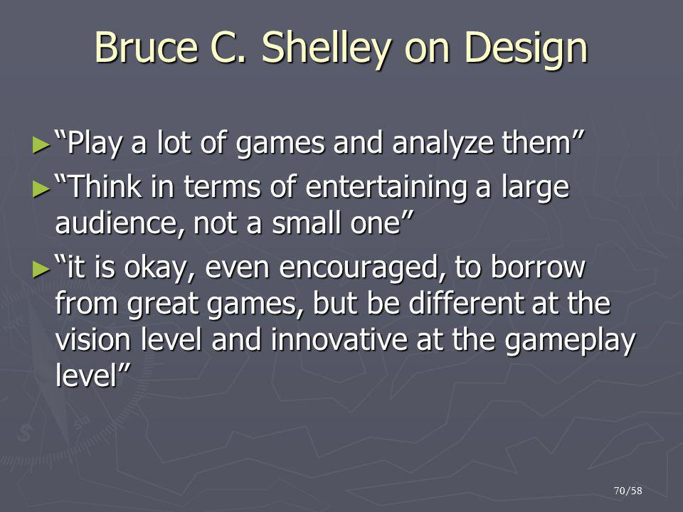Bruce C. Shelley on Design