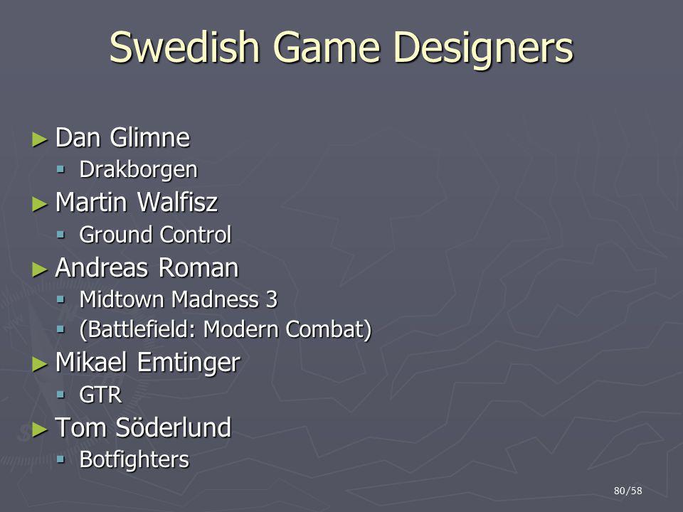Swedish Game Designers