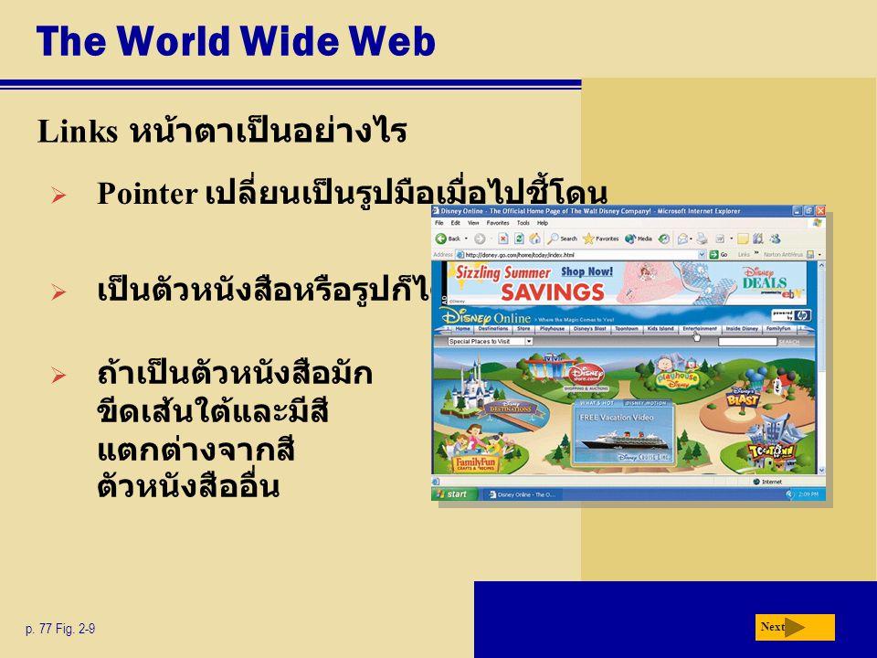 The World Wide Web Links หน้าตาเป็นอย่างไร