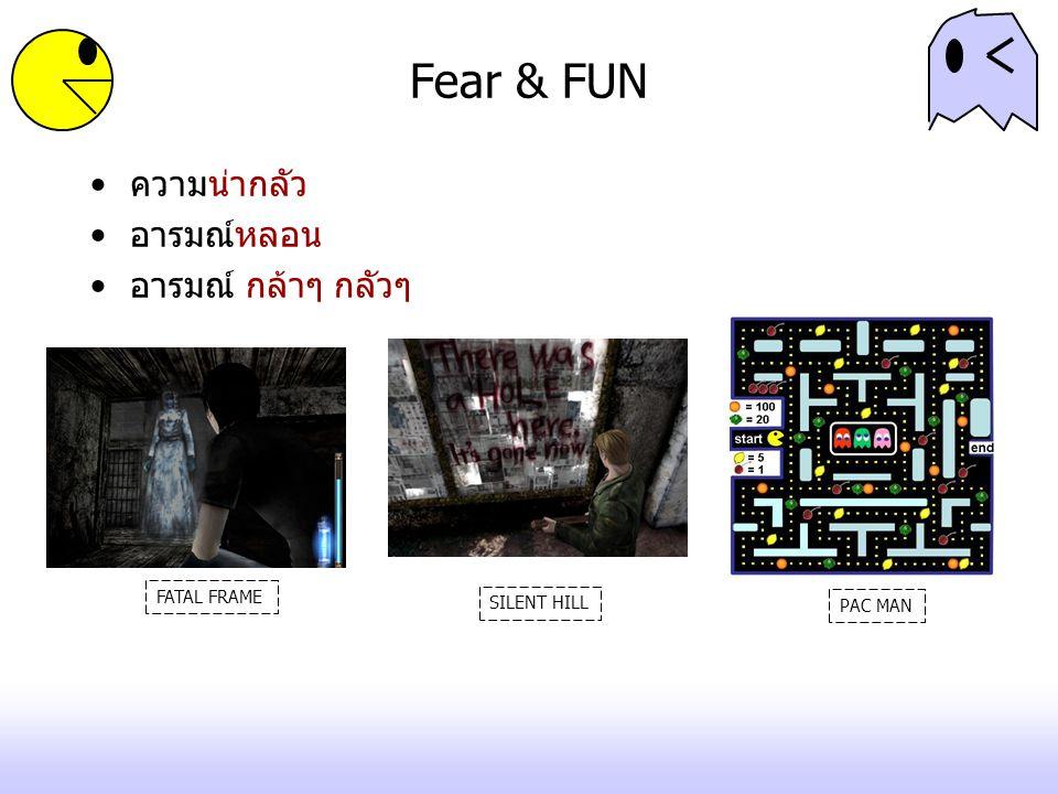 Fear & FUN ความน่ากลัว อารมณ์หลอน อารมณ์ กล้าๆ กลัวๆ FATAL FRAME