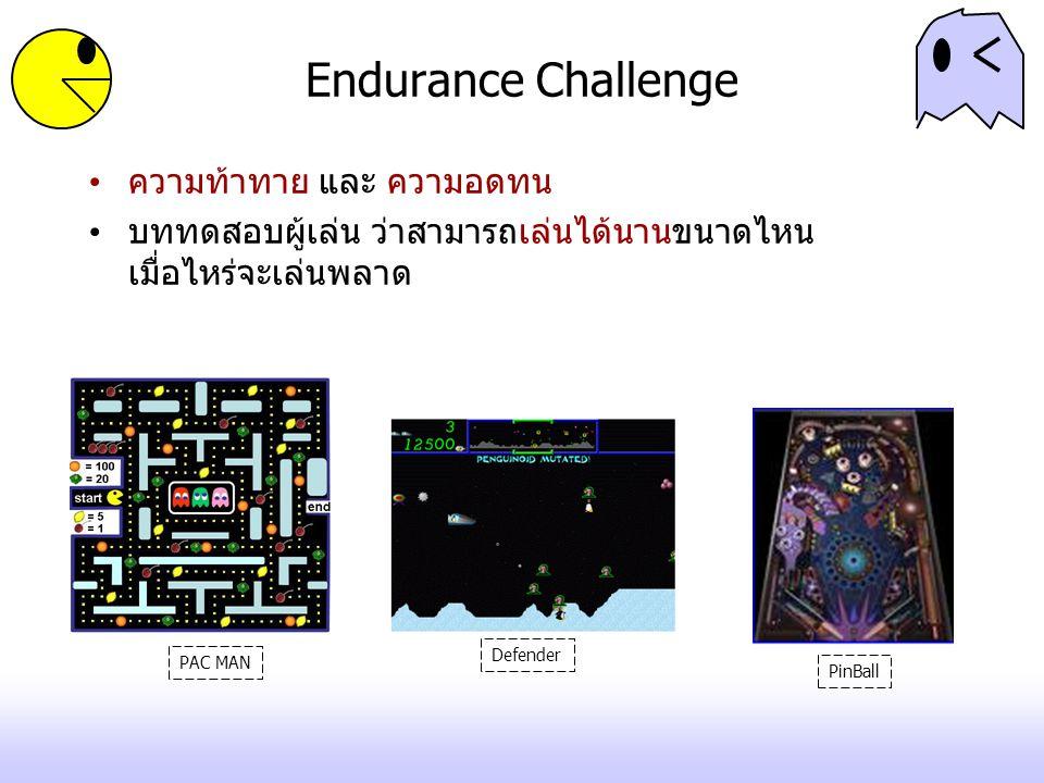 Endurance Challenge ความท้าทาย และ ความอดทน