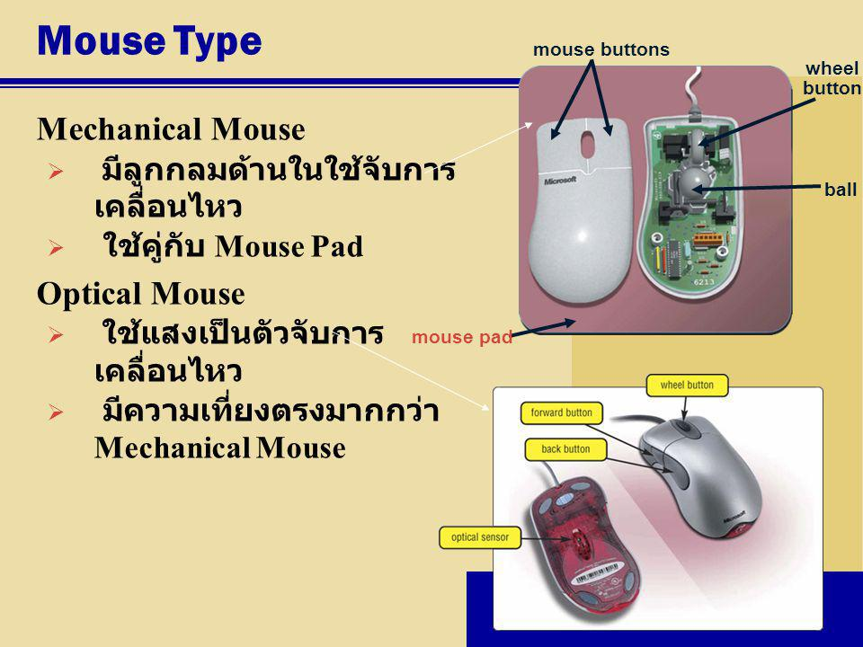 Mouse Type Mechanical Mouse Optical Mouse
