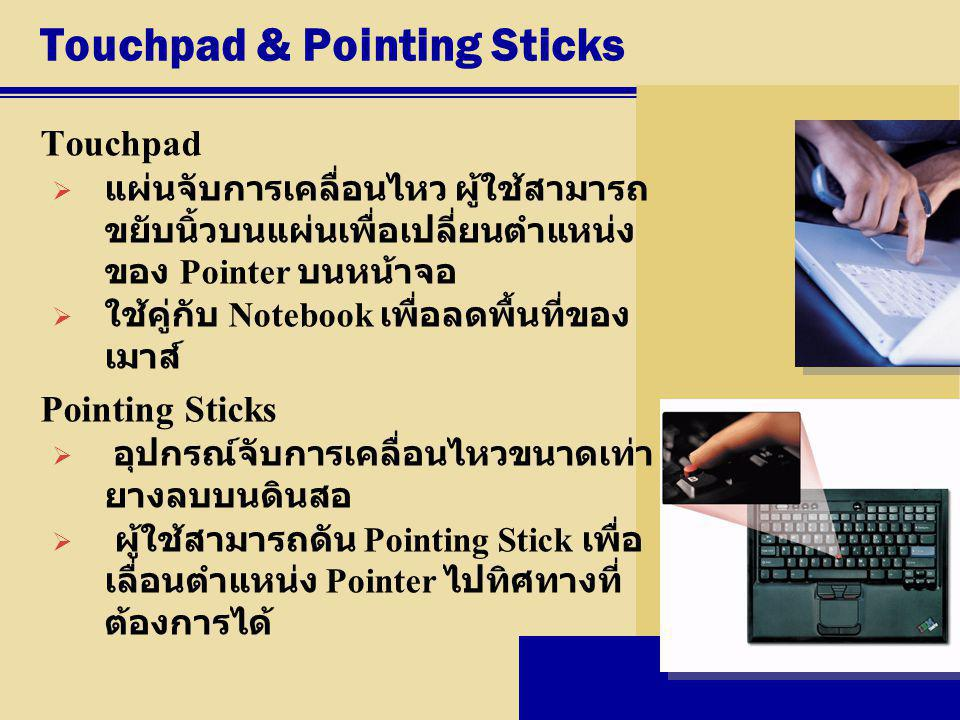 Touchpad & Pointing Sticks