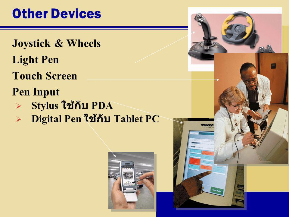 Other Devices Joystick & Wheels Light Pen Touch Screen Pen Input