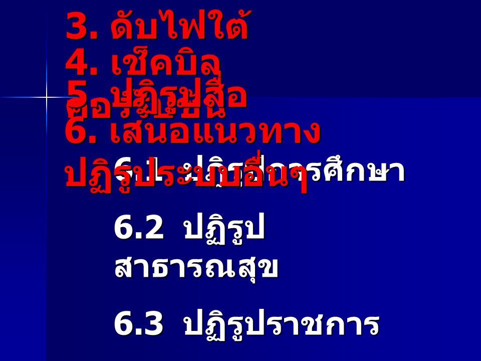 6. เสนอแนวทางปฏิรูประบบอื่นๆ