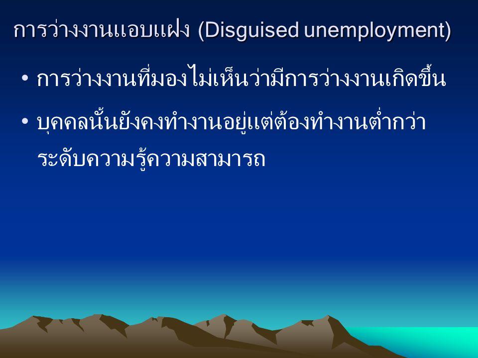 การว่างงานแอบแฝง (Disguised unemployment)