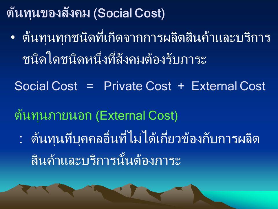 ต้นทุนของสังคม (Social Cost)