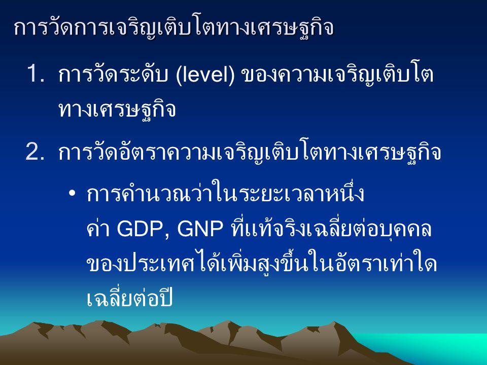การวัดการเจริญเติบโตทางเศรษฐกิจ