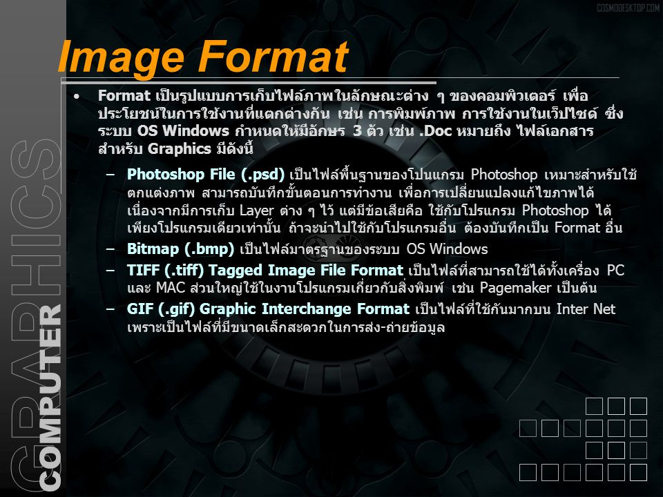 Image Format