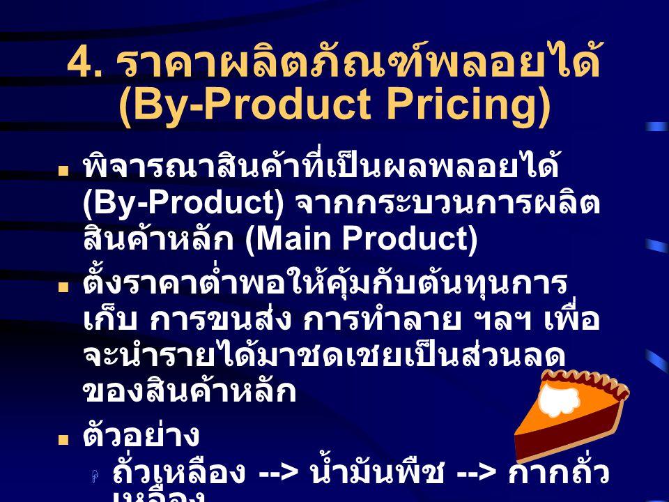 4. ราคาผลิตภัณฑ์พลอยได้ (By-Product Pricing)