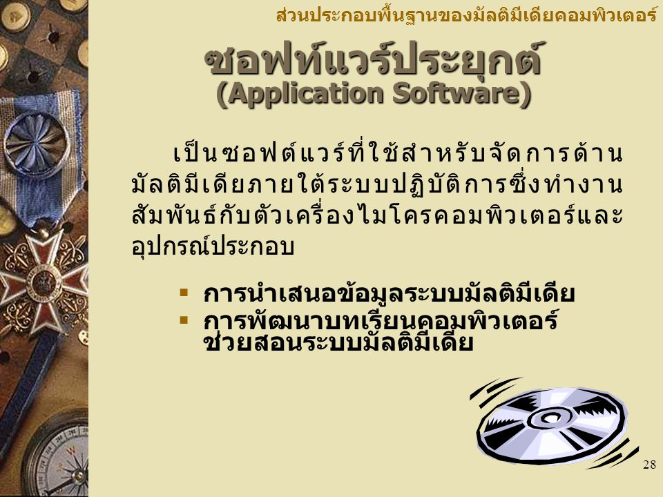 ซอฟท์แวร์ประยุกต์ (Application Software)