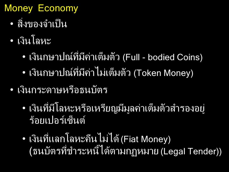 เงินกษาปณ์ที่มีค่าเต็มตัว (Full - bodied Coins)