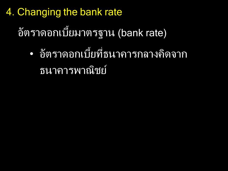 อัตราดอกเบี้ยมาตรฐาน (bank rate)