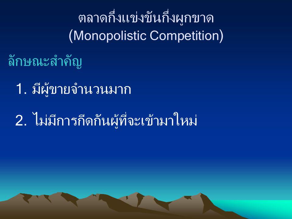 ตลาดกึ่งแข่งขันกึ่งผูกขาด (Monopolistic Competition)