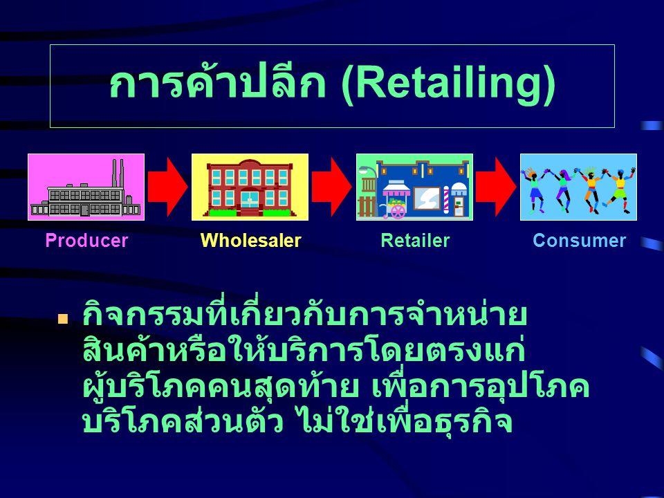 การค้าปลีก (Retailing)