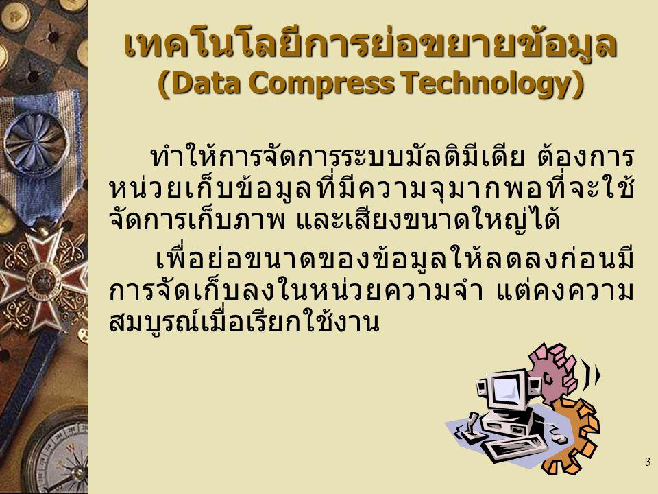 เทคโนโลยีการย่อขยายข้อมูล (Data Compress Technology)